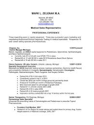 Medical Sales Resume Examples Objective Device Sa Peppapp