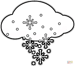 Small Picture Flakes in the Cloud coloring page Free Printable Coloring Pages