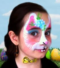 Small Picture Easter Bunny Face Paint Design VIDEO Tutorial Face Paint Shop Online