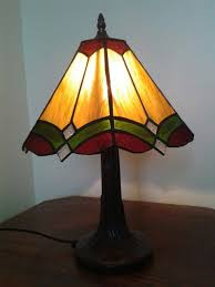 image result for stained glass panel lamp