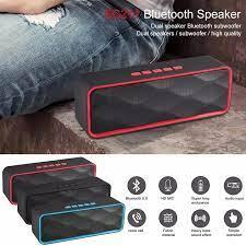 Bluetooth 5.0 Loa Đa Phương Tiện USB Loa Siêu Trầm Xe Ô Tô Không Dây Âm  Thanh Stereo Loa Hỗ Trợ Cho Điện Thoại Di Động Và Ipad|Outdoor Speakers