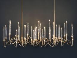 led brass pendant lamp il pezzo 3 long chandelier by il pezzo mancante