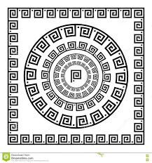 греческий орнамент меандр орнамента круга круглая рамка розетка