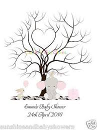 Baby Shower Guest Book Fingerprint Tree Baby Shower GuesbookFingerprint Baby Shower Tree