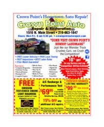 Auto Repair Flyer Family Flyer Crown Point Auto Repair