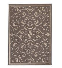 veranda scroll indoor outdoor rug 5 10 x 9 2