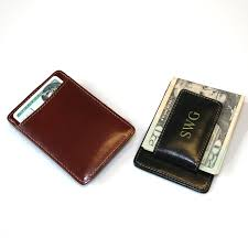 personalized money clip wallet rumors money clip wallet in leather can be personalized gifts imprinted promotional items by aogifts
