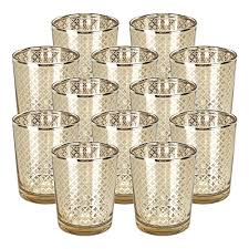 just artifacts glass votive candle holder 2 75 h 12pcs lattice gold mercury glass votive tealight candle holders for weddings parties and home decor