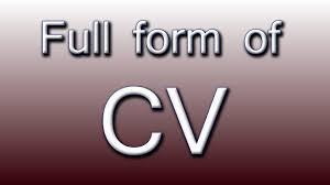 Form Cv Full Form Of Cv Youtube