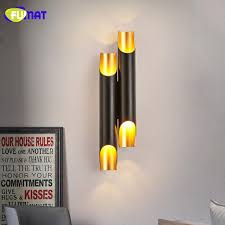 bathroom lighting rules. FUMAT Wall Lamps Modern Bathroom Lighting Slant Opening Design Lamp Sconce Aluminum Pipe Light Fixtures LED Black-in Indoor Rules