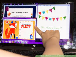 3 Ways To Make Homemade Birthday Party Invitations Wikihow