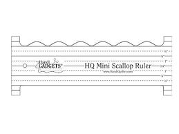 Handi Quilter Ruler Mini Scallop Ruler – Quilting Is My Therapy & Handi Quilter Ruler Mini Scallop Ruler Adamdwight.com
