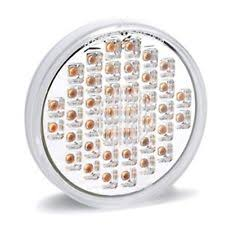 kc hilites driving light systems no warranty car truck turn kc hilites 1005 led 4 clear amber round turn signal new