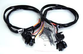 black switches and wires harness for harley davidson hand controls 96 06