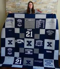 25 Graduation Gift Ideas | Shirt quilts, Craft and Crafty & I created this great t-shirt quilt with my sons high school football t- Adamdwight.com