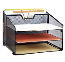 office desktop accessories. Fine Desktop ProAid Mesh Office Desktop Accessories Organizer Desk File Organizer With  3 Paper Trays And 1 In G