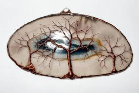 copper wire tree of life metal wall art sculpture on a white agate stone crystal suncatcher on wire tree sculpture wall art with copper wire tree of life metal wall art sculpture on a whi flickr