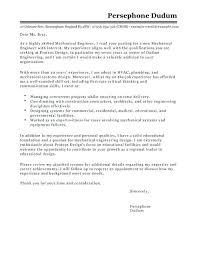 Mechanical Engineering Intern Cover Letter Sample Engineering Cover Letter Mechanical Engineer Cover Letter