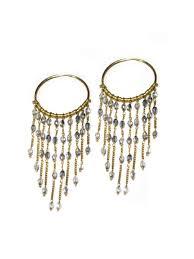 yaf sparkle large chandelier earrings