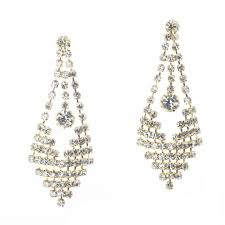 long beautiful rhinestone chandelier earrings jubilee fancy rhinestone diamond crystal chandelier earrings gold jb erhine