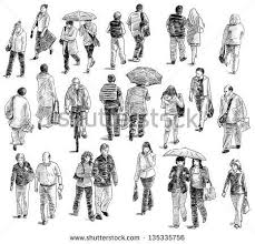 Walking People People Drawing People Walking People Sketches