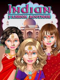 screenshot 1 for indian beauty makeover salon makeup dressup spa games