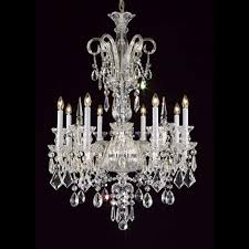 vintage 26 inch hanging chandelier with clear crystal 7060 8