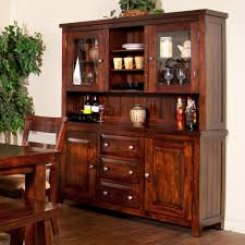 Hutch Display Cabinet Sunny Designs Vineyard 2 Piece China Cabinet With Glass Hutch