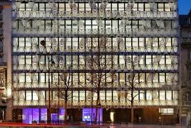 Manuelle Gautrand Architecture dressed up the faade of the French  headquarters of Barclays bank in what