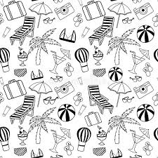 Small Picture Hand Drawn Travel Seamless Pattern For Adult Coloring Pages Stock