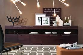 modern brown oak buffet