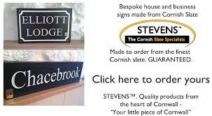 stevens cornish slate house signs