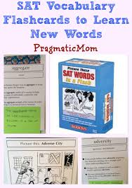 vocab cards with pictures sat vocabulary flashcards to learn new words pragmaticmom