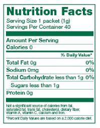 born sweet zing organic stevia sweetener zero calories ings organic dextrose organic stevia leaf extract