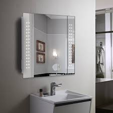 impressive mirror cabinet 60 led light illuminated bathroom in cabinets