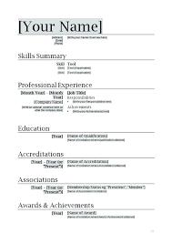 Free Australian Resume Templates Australian Resume Template Word Document Format Simple Basic Resume