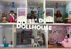 diy dollhouse for inch doll fenced american girl ikea furniture play food childrens toys our