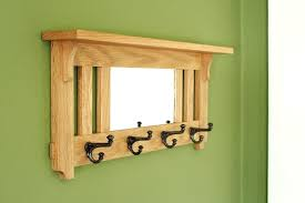 Coat Hook Rack With Mirror