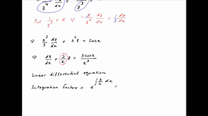 solve the diffeial equation square x y cube x dy dx y raised to power 4 cosx