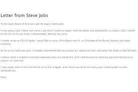 Resain Letter Steve Jobss Resignation Letter Macworld