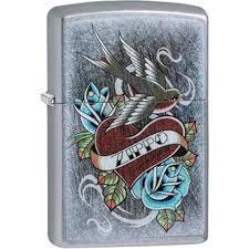 <b>Зажигалка бензиновая</b> Zippo Vintage Tattoo 29874 (серебристая ...