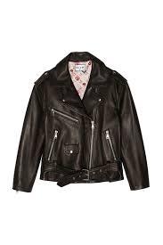 Leather Jacket With Design On Back Leather Biker Jacket With Painted Design On The Back Eshop Paul Joe