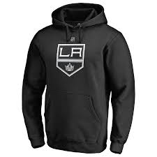 Branded Authentic Fanatics Hoodie Team Los Pullover Black Angeles Kings Personalized