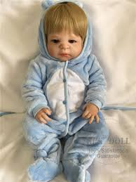 baby reborn dolls realistic full silicone baby boy doll in cute soft plush clothes alive baby dolls as s playmate sungles and fashion 2018