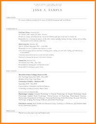 Child Care Resume Sample No Experience Gallery Creawizard Com