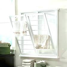 accordion drying rack wall mount laundry fold down mounted