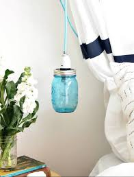 jar pendant lighting. Blue Mason Jar Pendant Light Lighting