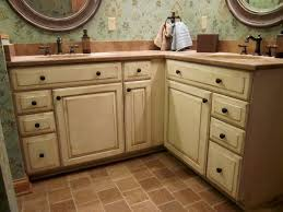 Old Looking Kitchen Cabinets Cream Colored Distressed Kitchen Cabinets Distressed Kitchen