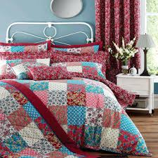 patchwork duvet covers patchwork red reversible duvet cover and pillowcase set patchwork quilt cover pattern