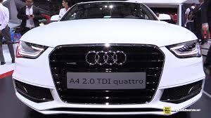 audi a4 2015 exterior. 2015 audi a4 20 tdi quattro sline exterior and interior walkaround 2014 paris auto show a